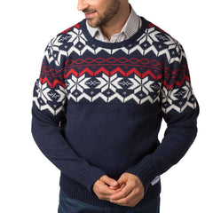 Rydale Mens Christmas Jumper Navy Fairisle