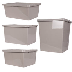 Thumbs Up Plastic Storage Boxes With Rattan Design Lids