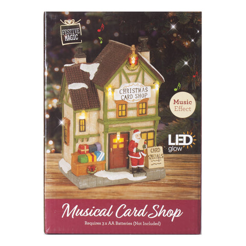 card shop christmas light up musical ornaments