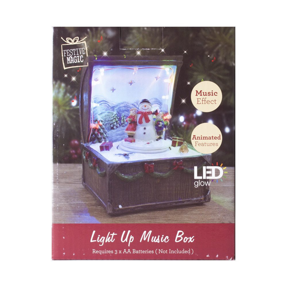 snowman christmas light up musical ornaments