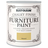 Chalky Finish Furniture Paint 750ml Mustard