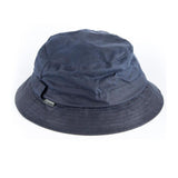 Waxed Cotton Bush Hat navy