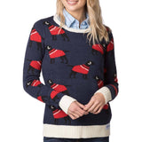Rydale Christmas Jumper Navy Fairisle