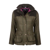 Bramham Short Tweed Jacket Olive/Pink