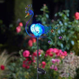 Solar Powered Peacock Stake Light