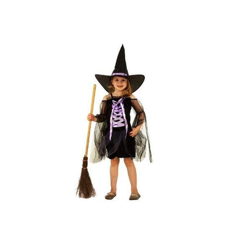 Girl's Halloween and Fancy Dress Witch Costume