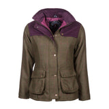 Bramham Short Tweed Jacket Plum/Plum