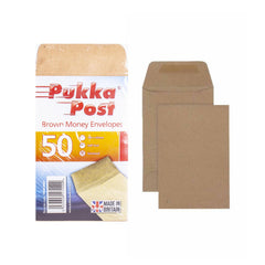 Pukka Post Brown Money Envelopes