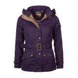 Belted Wax Biker Babe Jacket purple