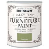 Chalky Finish Furniture Paint 750ml Sage Green