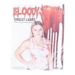 Bloody Singlet Halloween Themed Ladies Costume