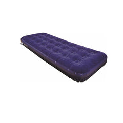 Highlander Single Flocked Air Bed - Built in Pump