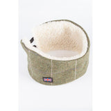 Sherpa Lined Tweed Headband Small Check