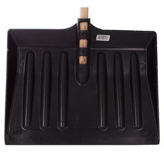Black Snow Shovel With Wooden Handle