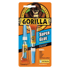 Gorilla Super Glue Twin Pack