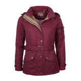 Belted Wax Biker Babe Jacket wine