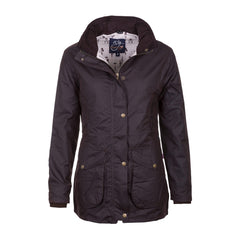 Ladies Wrelton Wax Jacket Brown