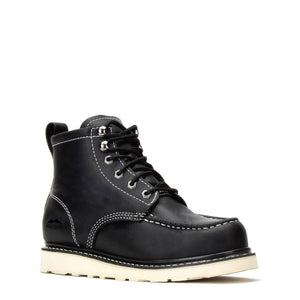 "CLINT |  CARBON BLACK 6"" MOC TOE VIBRAM® OUTSOLE"