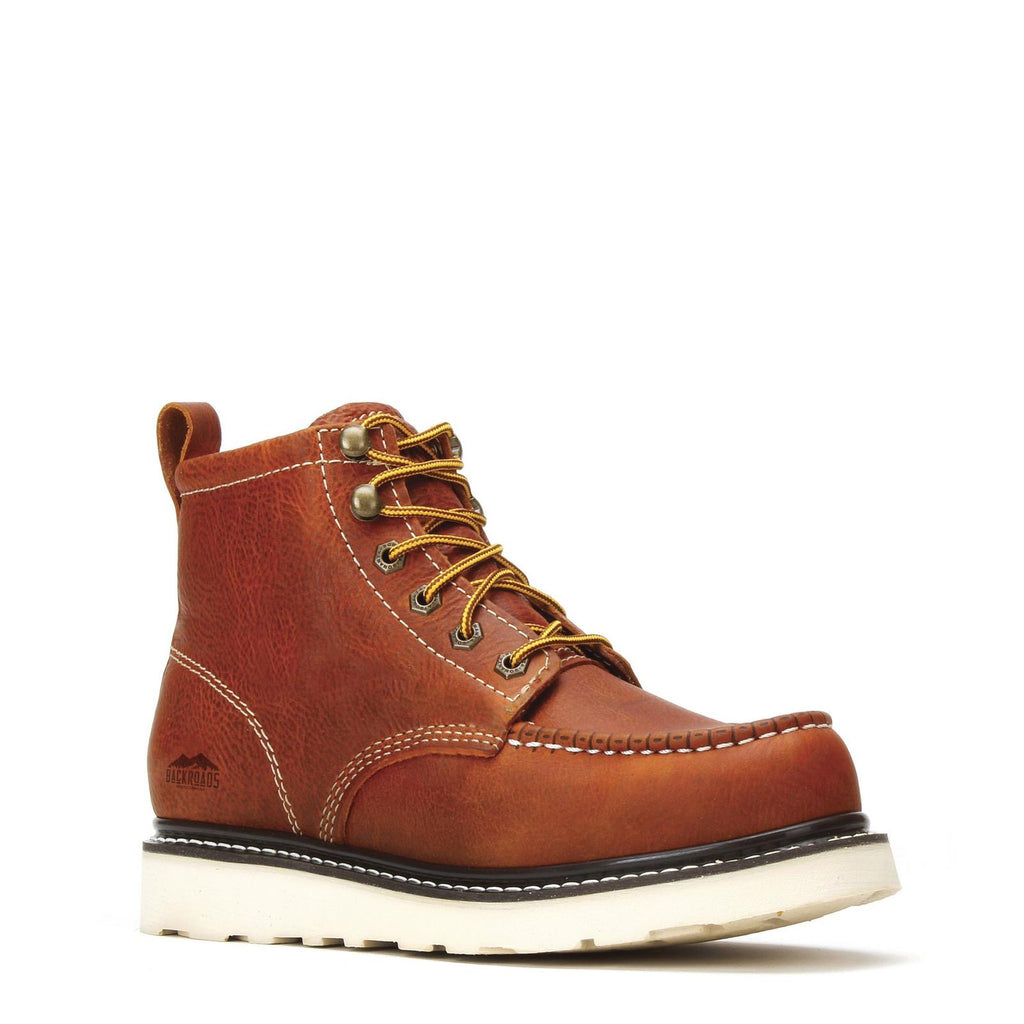 "CLINT | GOLDEN BROWN  6"" MOC TOE VIBRAM® OUTSOLE"