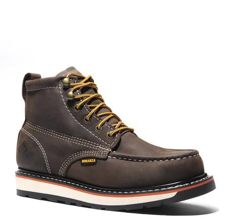FRONTIER II  |Crazy brown Moc Toe 6-Inch Dual Density Work Boot (Soft Toe)