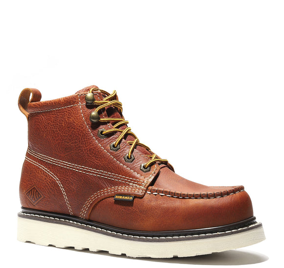 FRONTIER | Classic Moc Toe 6-Inch Wedge Sole Work Boot with Steel Toe