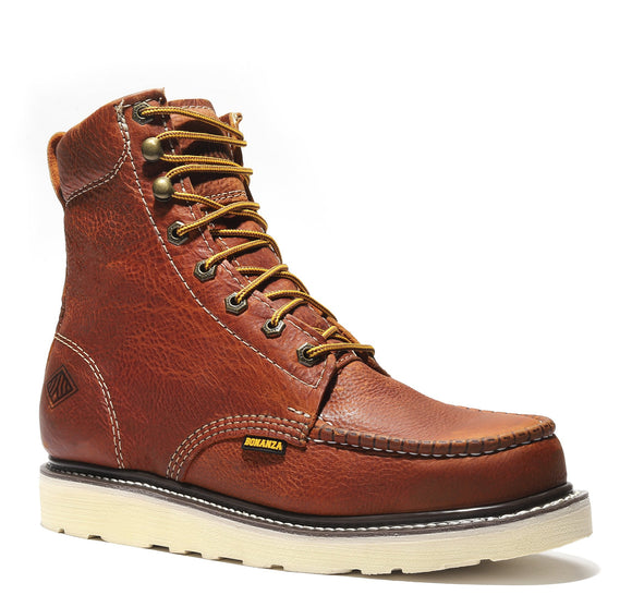 FRONTIER | Classic Moc Toe 8-Inch Wedge Sole Work Boot(Soft Toe)