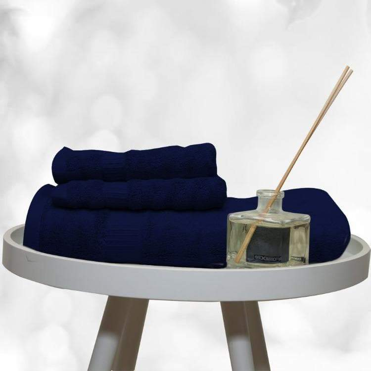 Blue Bamboo Fiber Towel Set by Livpure