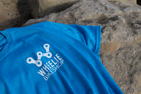 Wheelie T-Shirt Blue