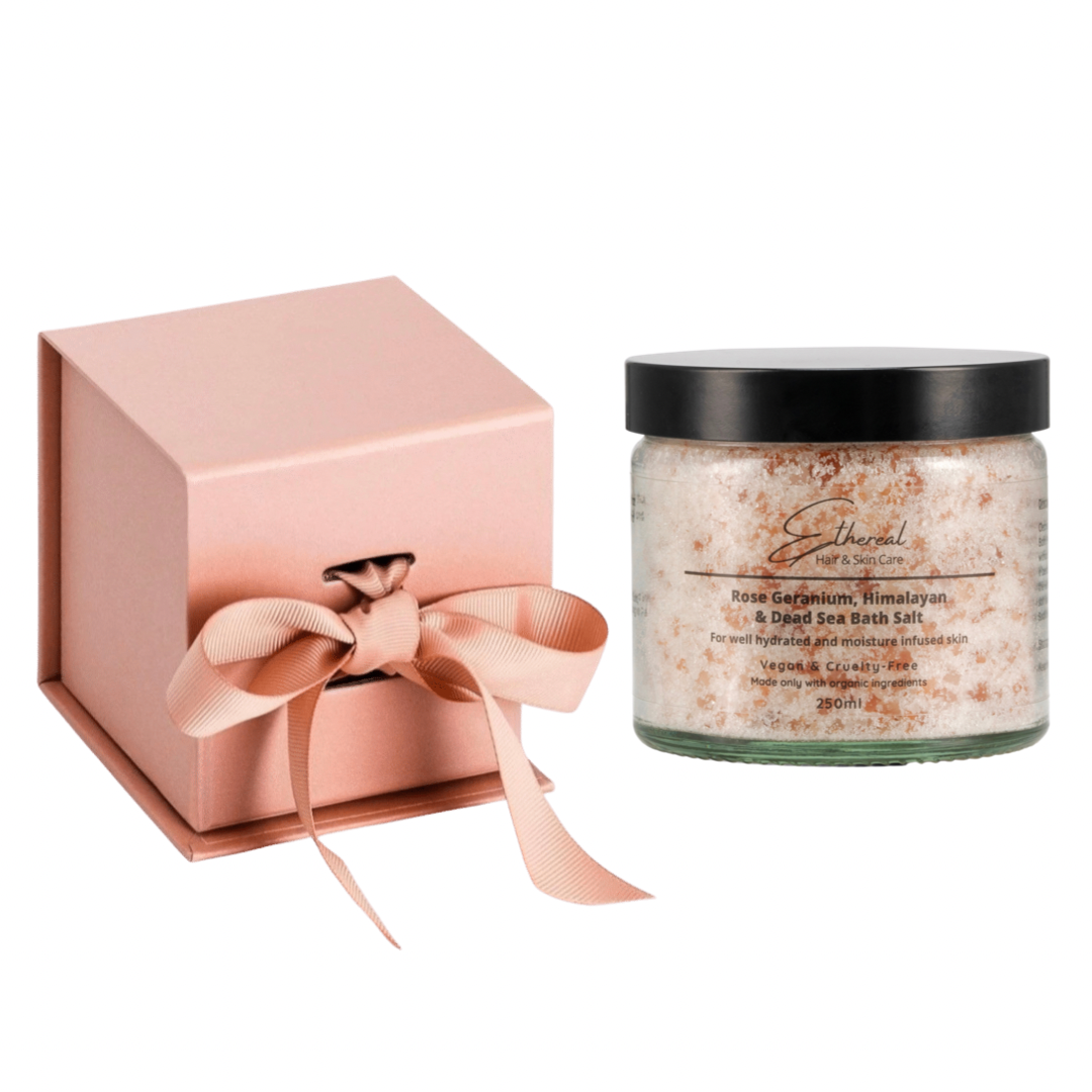 Rose Geranium, Himalayan & Dead Sea Bath Salt Gift