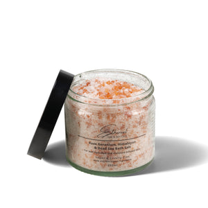 Load image into Gallery viewer, Rose Geranium, Himalayan & Dead Sea Bath Salt Gift