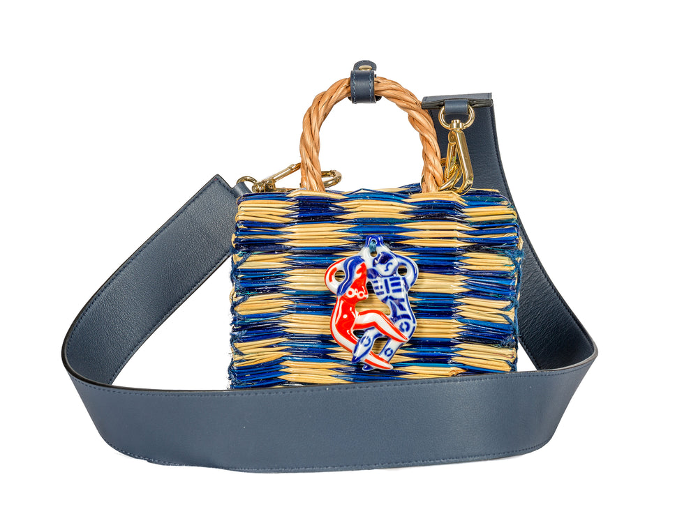톰톰 미니 블루 비제 Tom Tom mini blue Biser with strap