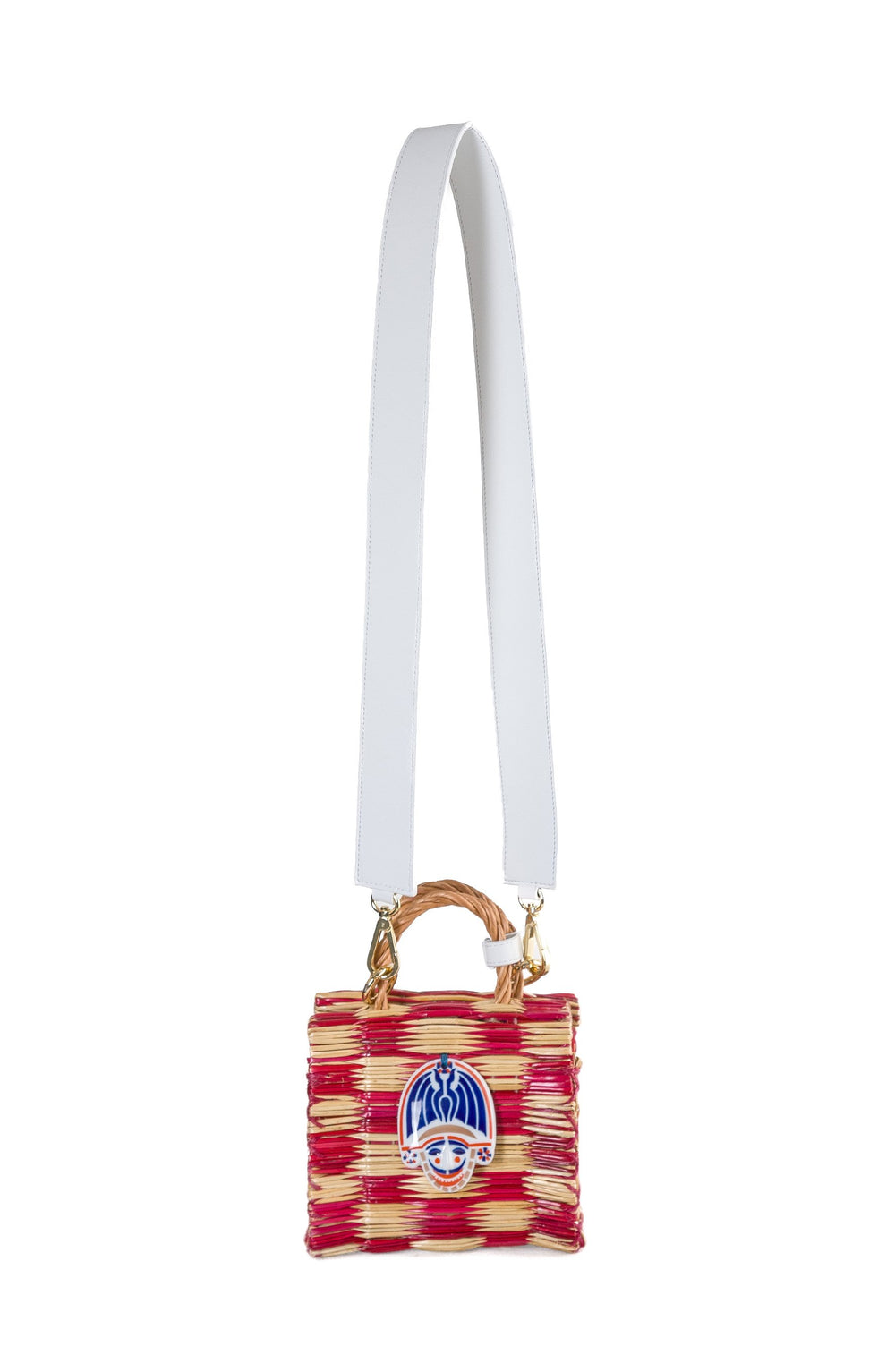 Tom tom red mini in white with strap