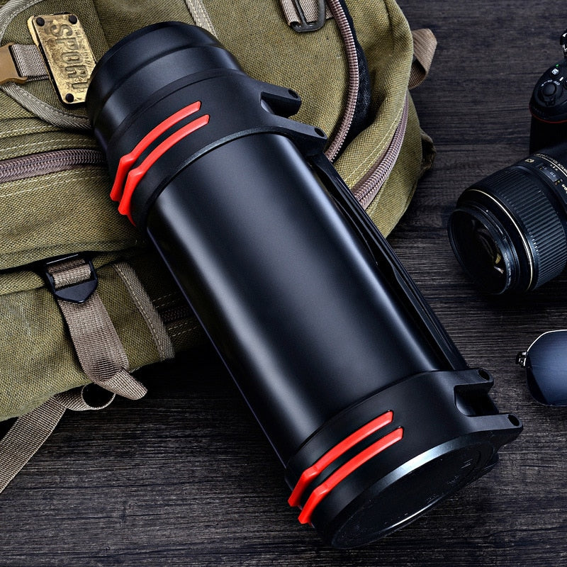 2L/3L Large Capacity Double-Wall Stainless Steel Thermos Vacuum Insulated Cup Bottle For Water Outdoor Drinkware Sports Flask