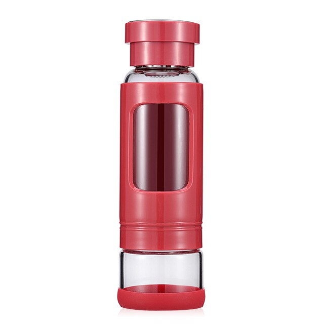 JOUDOO 430ML High Quality Glass Water Bottle Heat-resisting Tea Bottles With Tea Infuser Portable Drinkware Cup Of Water 35