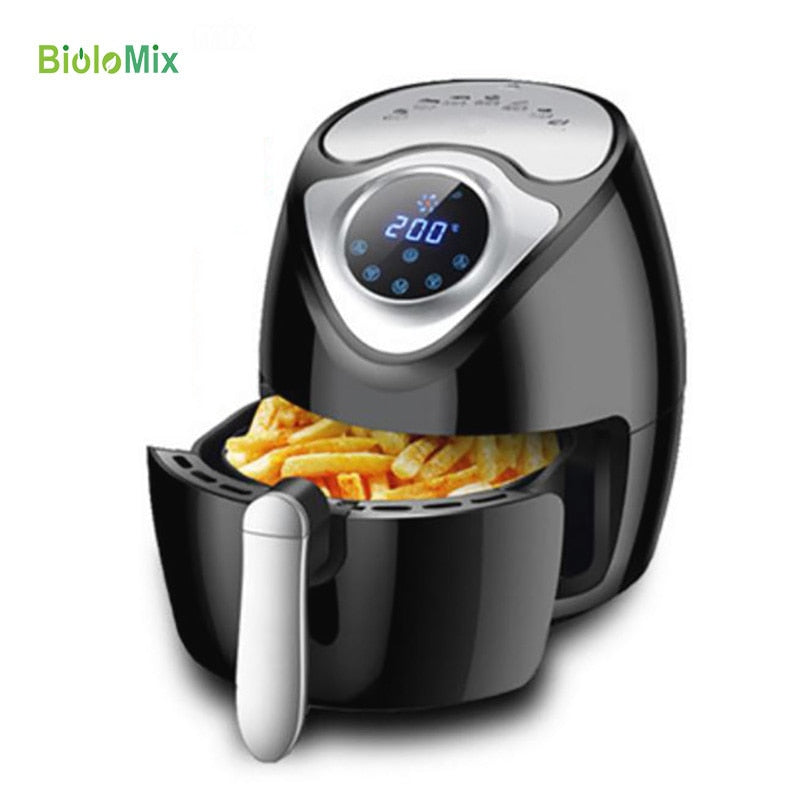 SUPER Intelligent Automatic Capacity Electric POTATO CHIPPER household air fryer multi-functional Oven NO smoke Oil Digital