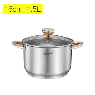 1pc Cooking Pots and Pans Induction High Grade Casseroles Frypan Saucepan Inox Set Cookware Utensil set Kitchen Tools Selected