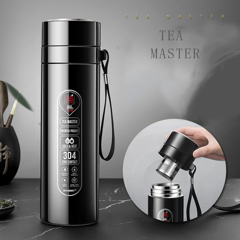 Water Bottle Stainless Steel Drinkware Vacuum Flasks Thermoses Tea Infuser Thermo Mug Christmas Gift Keep Cool Father Gift