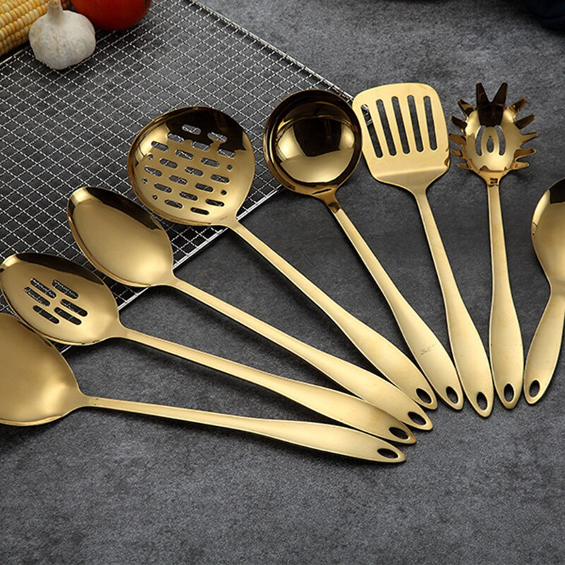 Stainless Steel Cooking Tools Spoon Shovel Cookware Kitchen Tools Spatula Ladle Kitchenware