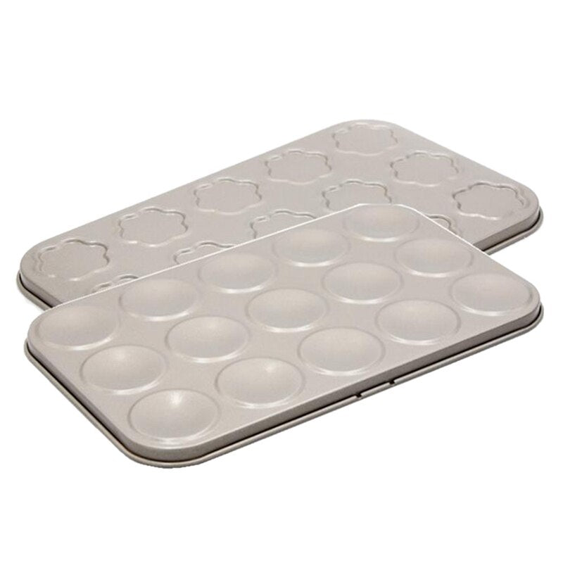 2Pcs Bakeware Muffin Cake Baking Pan 35 Holes Cupcake Mold Non Stick Baking Dishes Carbon Steel Oven Trays Pastry Tool