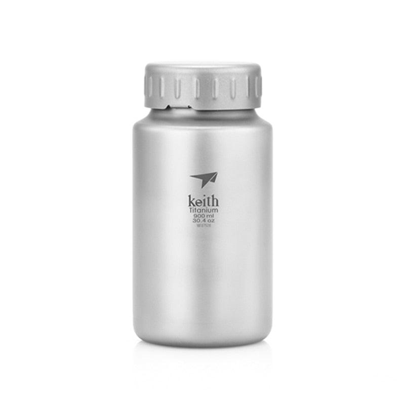 Keith Kettle 900ml 1200ml Titanium Water Bottle Wide Mouth Kettle Drinkware Sports Bottle Juice Lemon Container