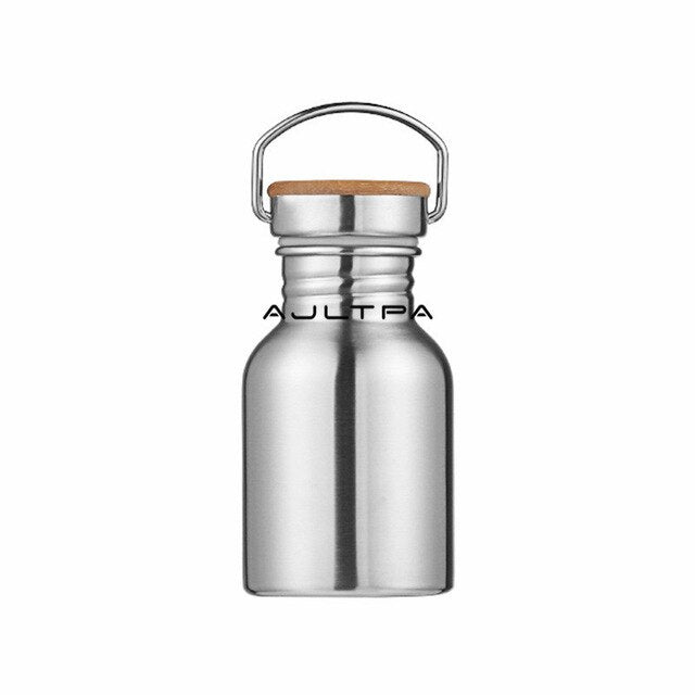 50Pcs 350/500/600/750ml Stainless Sports Water Bottle Travel Camping Monolayer Metal Drink Bottle Drinkware