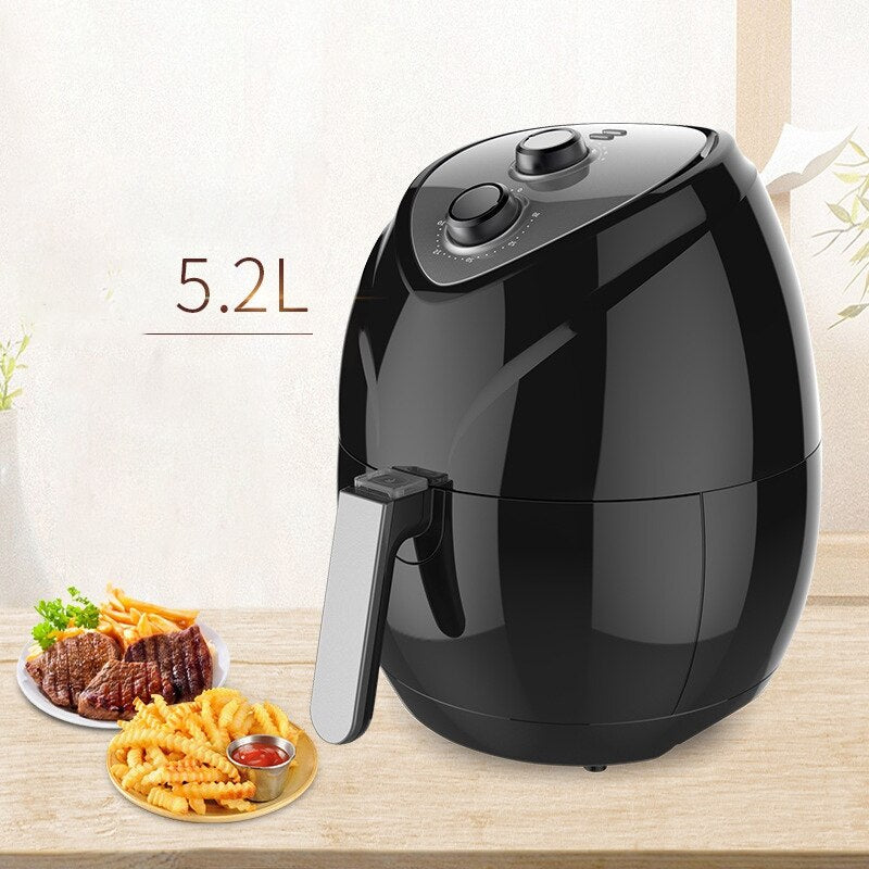 SANQ Air Fryer Household Fumeless Fries Electromechanical Oven Large Capacity Smart Fryer-US Plug