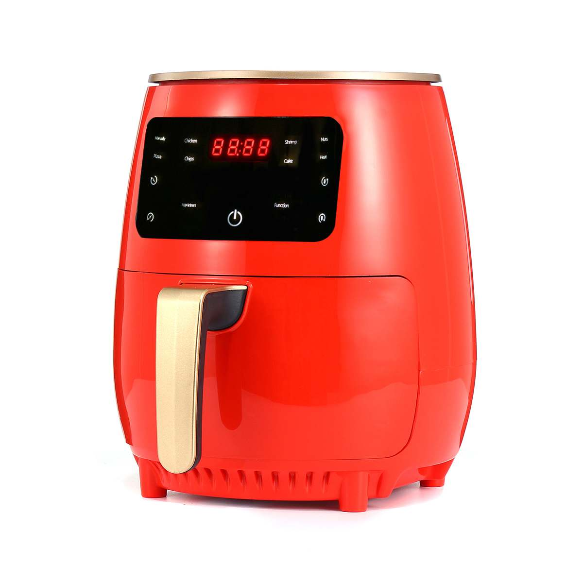 4.5L 1200W Air Fryer Oil free Health Fryer Cooker 220V Multifunction Smart Touch LCD Deep Airfryer Pizza Fryer for French fries
