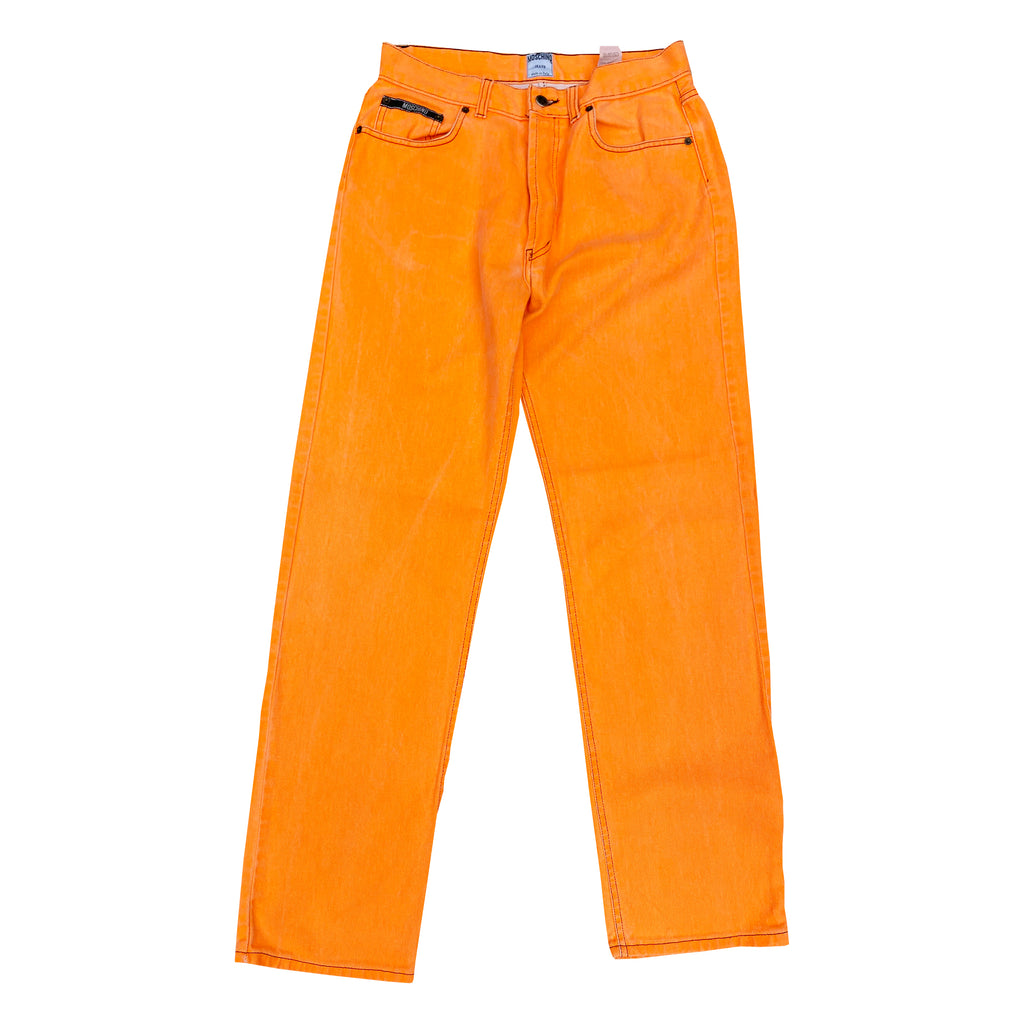 Moschino Neon Jeans (Orange) UK 10