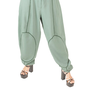 Emporio Armani Panelled Trousers (Green) UK 10