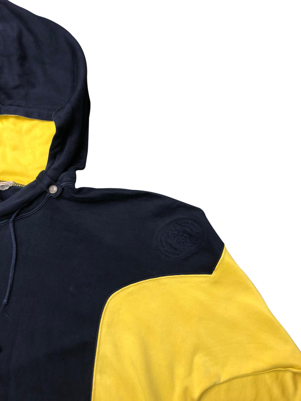 Gucci Panelled Hoodie (Yellow/Navy) UK 10-14