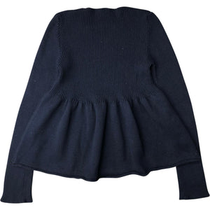 Miu Miu Pleated Jumper (Black) UK 6-10