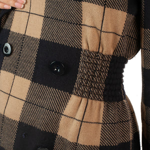 Valentino Plaid Knit Jacket (Brown/Black) UK 8-12