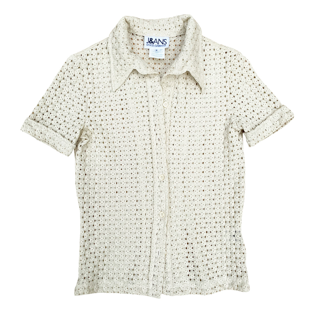 D&G Crochet Top (Cream) UK 8