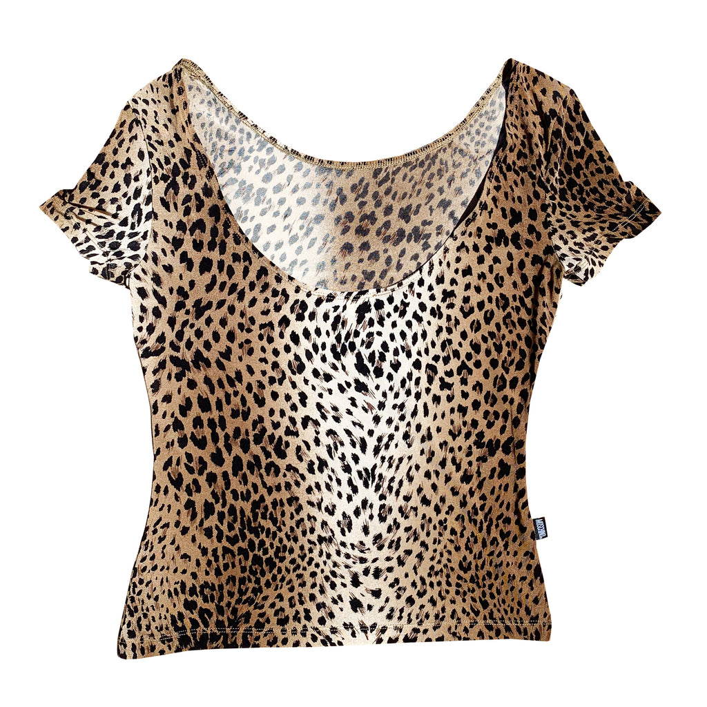 Moschino Leopard Top (Multi) UK 6-10